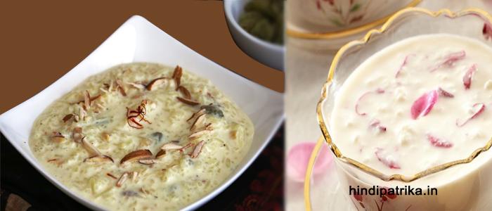 ठंडी गुलाब खीर कैसे बनाये | How to Make Cold Rose Rice Kheer Recipe
