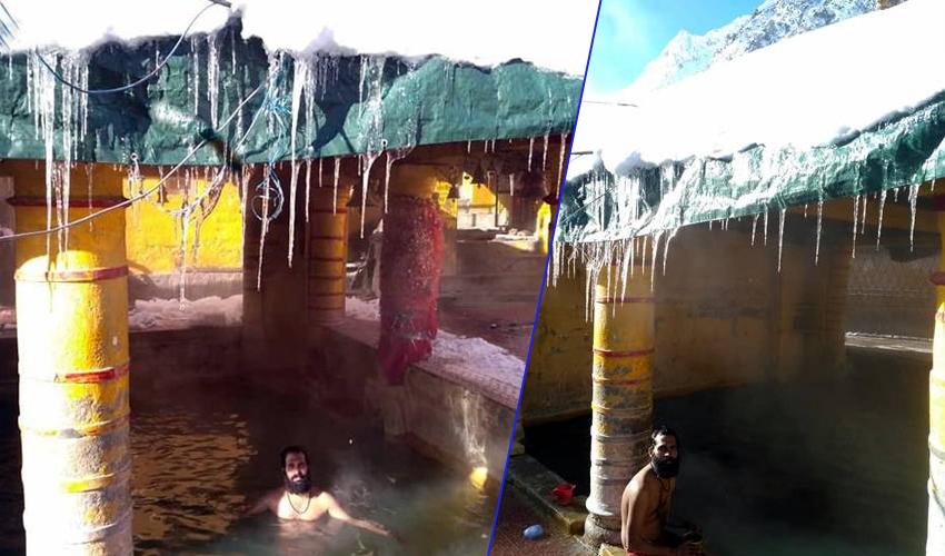माइनस 20 डिग्री में साधु बदरीनाथ में लगाते हैं  ध्यान, जहाँ अआप लोगो का हिम्मत भी नहीं करता खुले में घूमने की